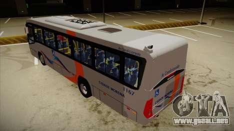 Marcopolo Senior Midi MB OF 1418 Cidade Morena para GTA San Andreas vista hacia atrás