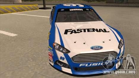 Ford Fusion NASCAR No. 99 Fastenal Aflac Subway para GTA San Andreas left