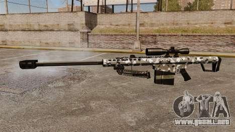 El francotirador Barrett M82 rifle v15 para GTA 4 tercera pantalla
