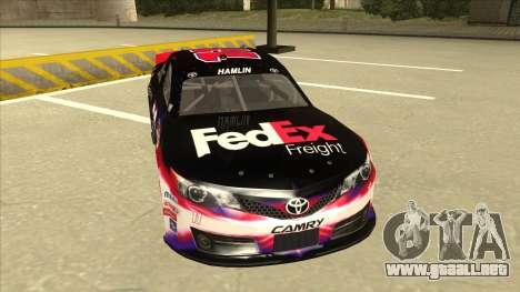 Toyota Camry NASCAR No. 11 FedEx Freight para GTA San Andreas left