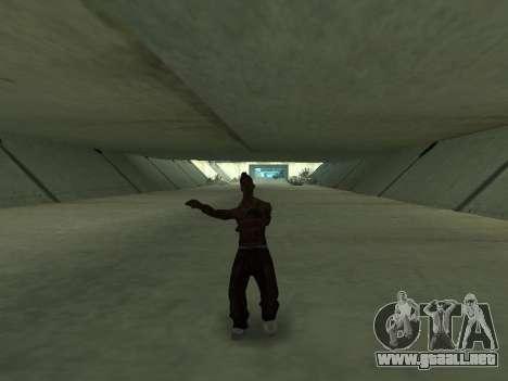 Bailan para GTA San Andreas quinta pantalla