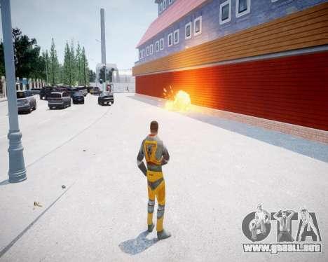 Gordon Freeman para GTA 4 adelante de pantalla