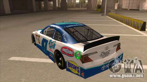 Toyota Camry NASCAR No. 47 Scott para GTA San Andreas vista hacia atrás