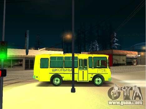 SURCO escuela 32053-70 para GTA San Andreas vista posterior izquierda