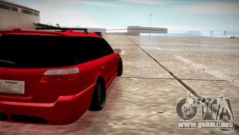 Subaru Legacy Wagon Hellaflush para GTA San Andreas vista posterior izquierda