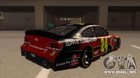 Chevrolet SS NASCAR No. 24 AARP para la visión correcta GTA San Andreas