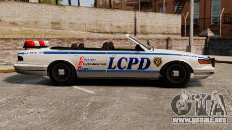 La versión convertible de la policía para GTA 4 left