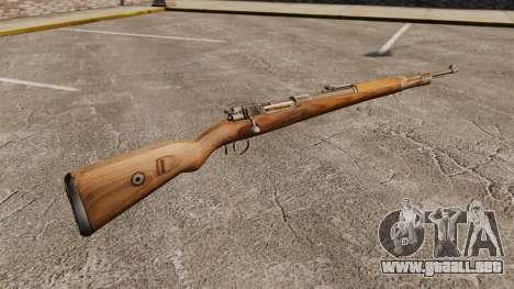 Mauser Karabiner 98 k rifle de repetición para GTA 4 segundos de pantalla