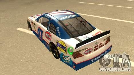 Toyota Camry NASCAR No. 47 Kingsford para GTA San Andreas vista hacia atrás