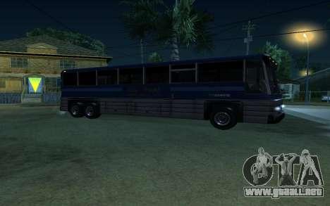 New Coach para GTA San Andreas vista posterior izquierda