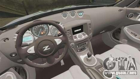Nissan 370Z para GTA 4 vista interior