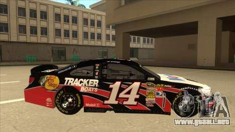Chevrolet SS NASCAR No. 14 Mobil 1 Tracker Boats para GTA San Andreas vista posterior izquierda