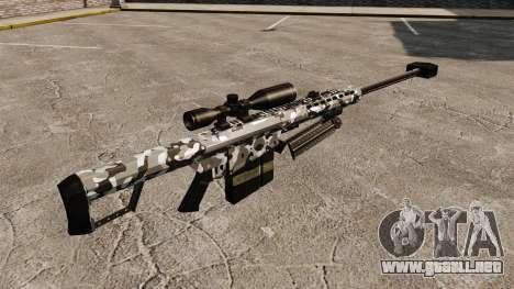 El francotirador Barrett M82 rifle v15 para GTA 4 segundos de pantalla