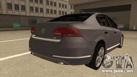 Volkswagen Passat 2.0 Turbo para la visión correcta GTA San Andreas