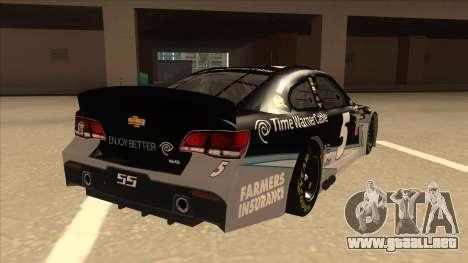 Chevrolet SS NASCAR No. 5 Time Warner Cable para la visión correcta GTA San Andreas