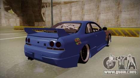 Nissan Skyline R33 JDM para la visión correcta GTA San Andreas