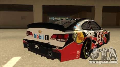 Chevrolet SS NASCAR No. 14 Mobil 1 Tracker Boats para la visión correcta GTA San Andreas