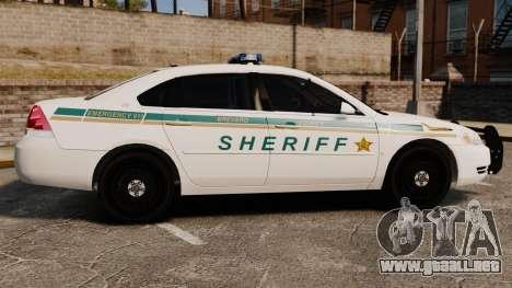Chevrolet Impala BCSD 2010 [ELS] para GTA 4 left