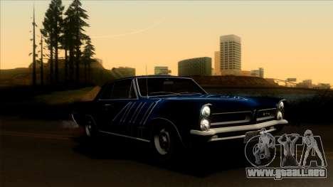 Pontiac Tempest LeMans GTO Hardtop Coupe 1965 para GTA San Andreas interior