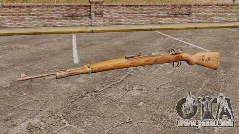 Mauser Karabiner 98 k rifle de repetición para GTA 4 tercera pantalla