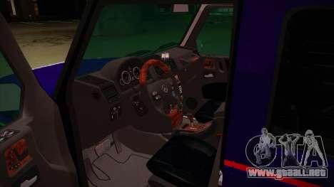 Mercedes Benz G8 Carabinieri para visión interna GTA San Andreas
