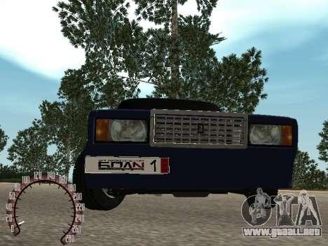 BPAN VAZ 2107 para GTA San Andreas vista hacia atrás