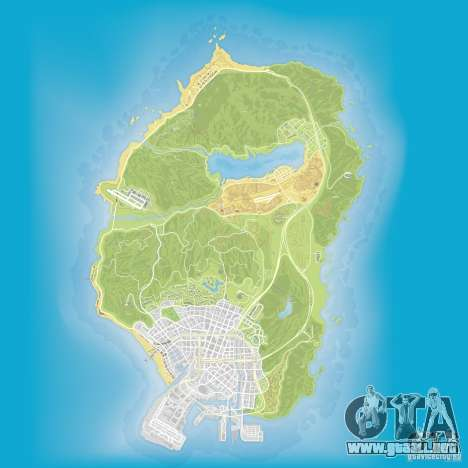 GTA V atlas map para GTA San Andreas tercera pantalla