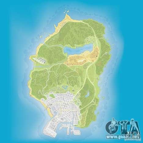 GTA V atlas map para GTA San Andreas tercera pantalla