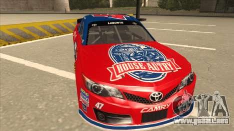 Toyota Camry NASCAR No. 47 House-Autry para GTA San Andreas left
