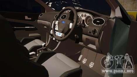 Ford Focus RS 2010 para GTA San Andreas vista hacia atrás