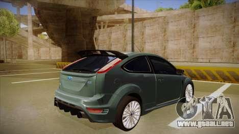 Ford Focus RS 2010 para la visión correcta GTA San Andreas