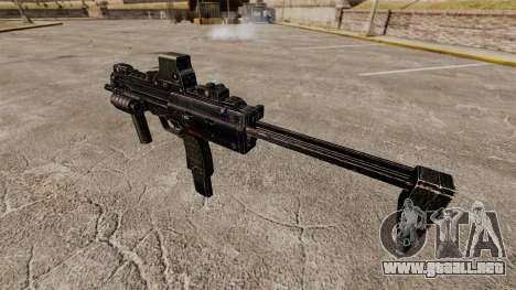 HK MP7 subfusil ametrallador v1 para GTA 4 adelante de pantalla