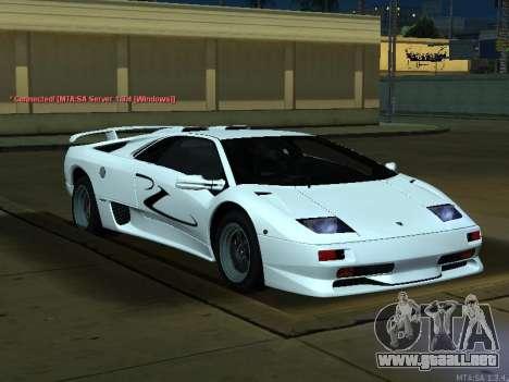 Lamborghini Diablo SV v2 para la visión correcta GTA San Andreas