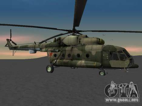 MI-8 para la vista superior GTA San Andreas