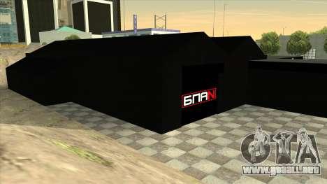 El garaje en Doherty BPAN para GTA San Andreas quinta pantalla