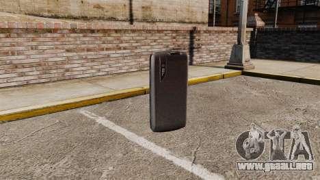 Comunicador ZTE Blade para GTA 4 tercera pantalla