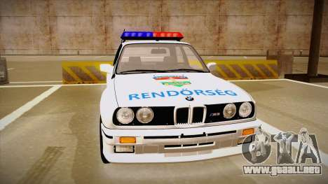 BMW M3 E30 Rendőrség para GTA San Andreas left