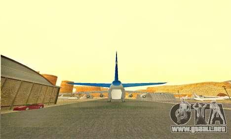 Andromada GTA V para GTA San Andreas vista posterior izquierda