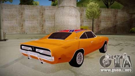 Dodge Charger 1969 (general lee) para la visión correcta GTA San Andreas