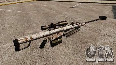 El francotirador Barrett M82 rifle v5 para GTA 4 segundos de pantalla