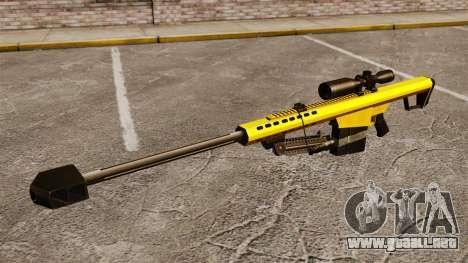 El v3 de rifle de francotirador Barrett M82 para GTA 4 tercera pantalla