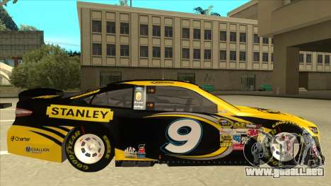Ford Fusion NASCAR No. 9 Stanley DeWalt para GTA San Andreas vista posterior izquierda