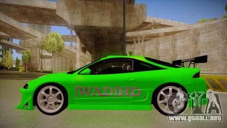 Mitsubishi Eclipse GSX 1996 [WAD]HD para GTA San Andreas vista posterior izquierda