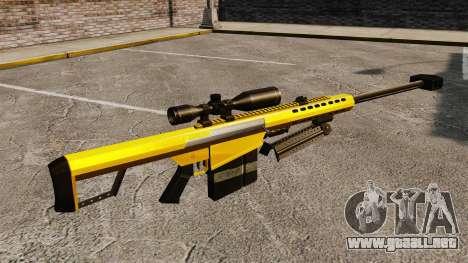 El v3 de rifle de francotirador Barrett M82 para GTA 4 segundos de pantalla