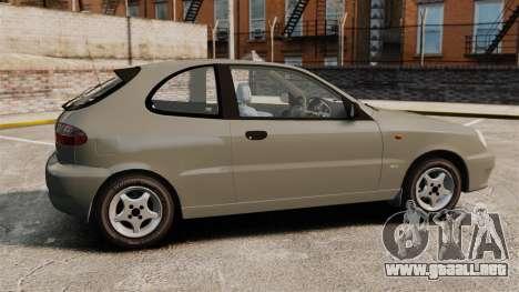Daewoo Lanos 1997 PL para GTA 4 left