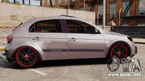 Volkswagen Gol Rally 2012 Socado Turbo para GTA 4 left
