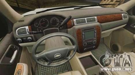 Chevrolet Tahoe Slicktop [ELS] v1 para GTA 4 vista hacia atrás