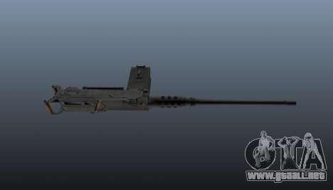 Maxim ametralladora Browning M2HB para GTA 4 tercera pantalla