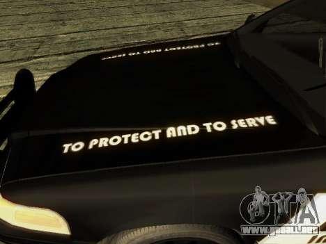 Ford Crown Victoria Police Interceptor para vista inferior GTA San Andreas