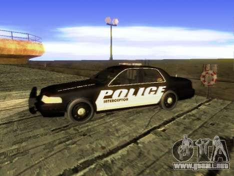 Ford Crown Victoria Police Interceptor para GTA San Andreas left